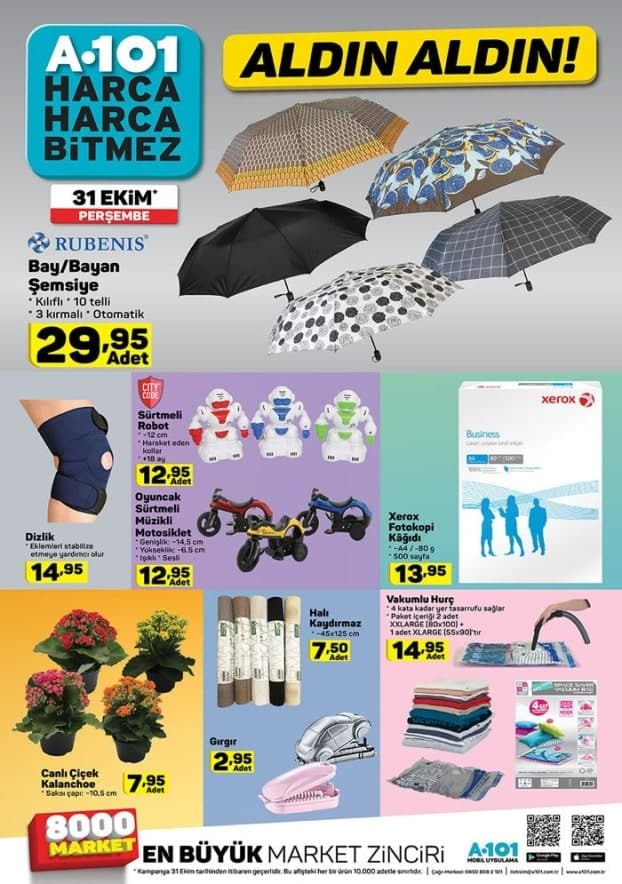 A101 31 Ekim 2019 Şemsiye