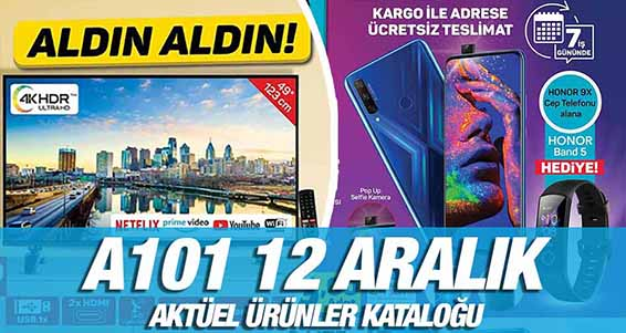 A101 12 Aralık 2019 Kataloğu
