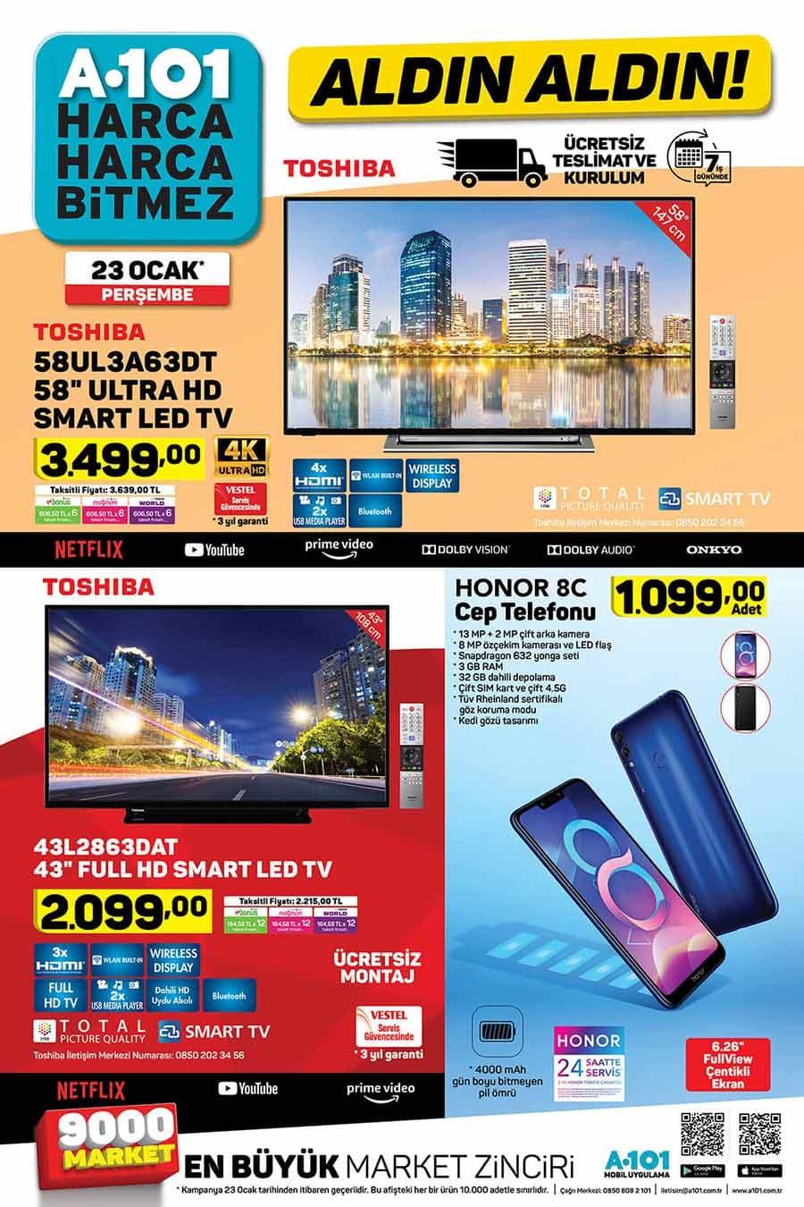 A101 23 Ocak Smart Led TV