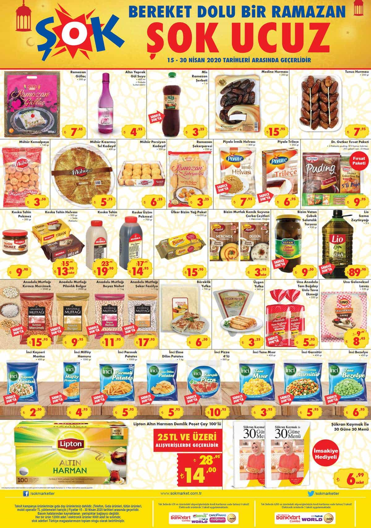 Şok 15 Nisan 2020 Gıda ürünleri