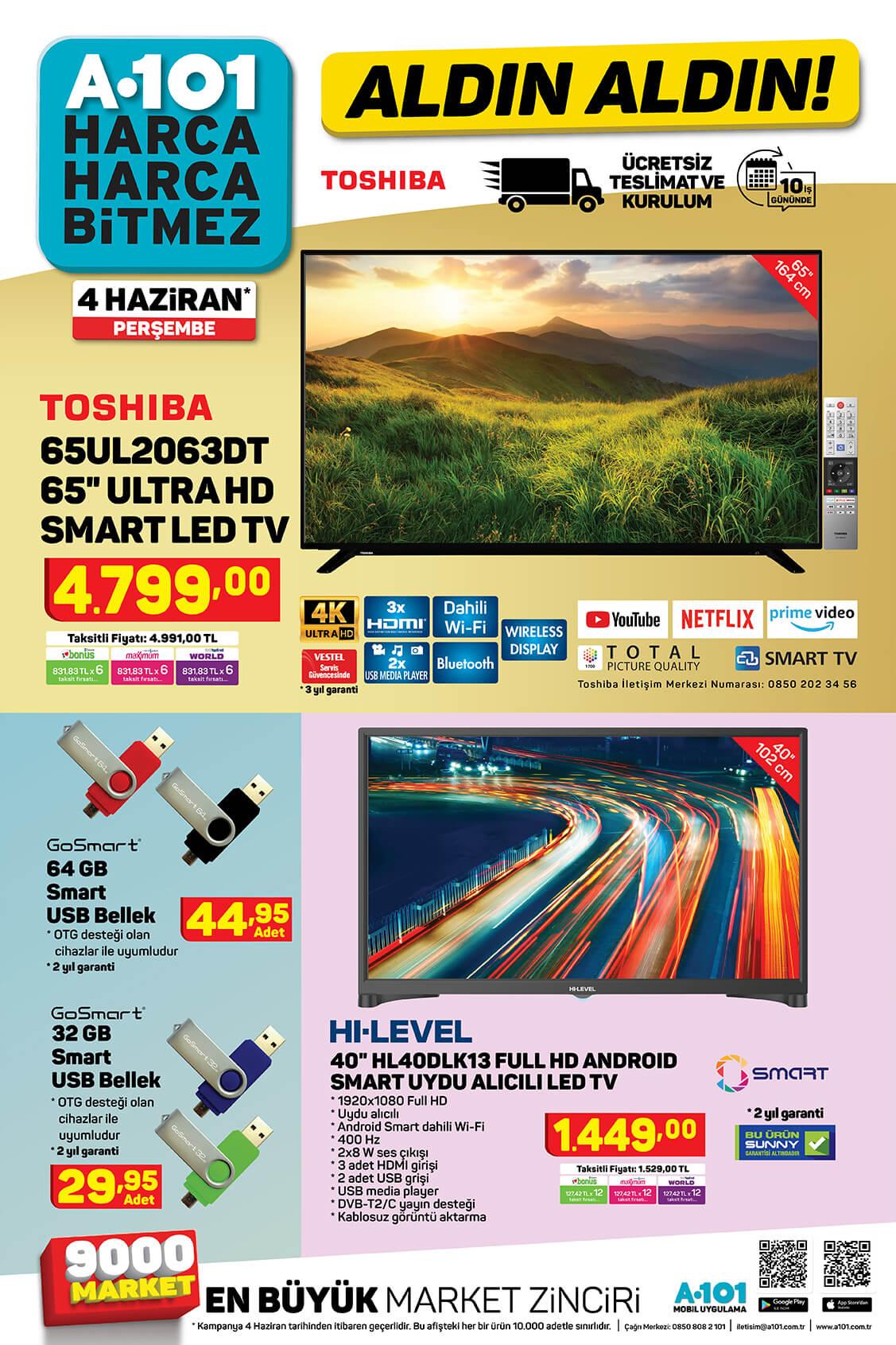 A101 4 Haziran 2020 Aktüel Ürünler