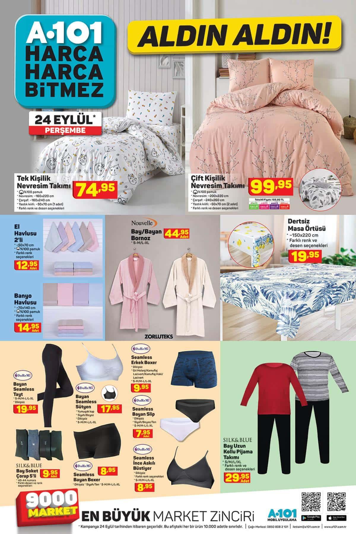 A101 24 Eylül indirim ürünleri