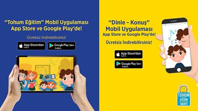Tohum Otizm Vakfı Yepyeni Mobil Uygulamaları ile Aile ve Öğretmenlerin Yanında!