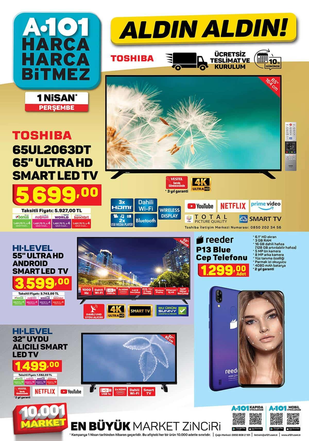 A101 1 Nisan televizyon
