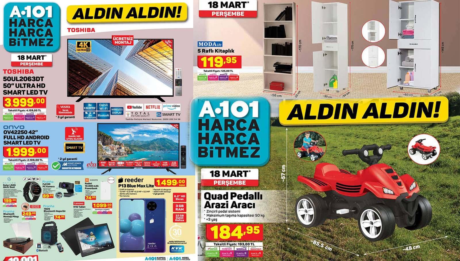 A101 18 Mart 2021 Kataloğu Aktüel Ürünler