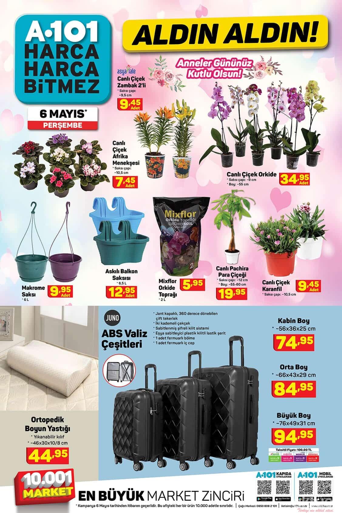 A101 6 Mayıs Çiçekler