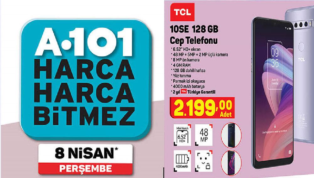 A101 8 Nisan 2021 Perşembe Günü Satışa Sunulacak Olan Akıllı Telefon: TCL 10SE