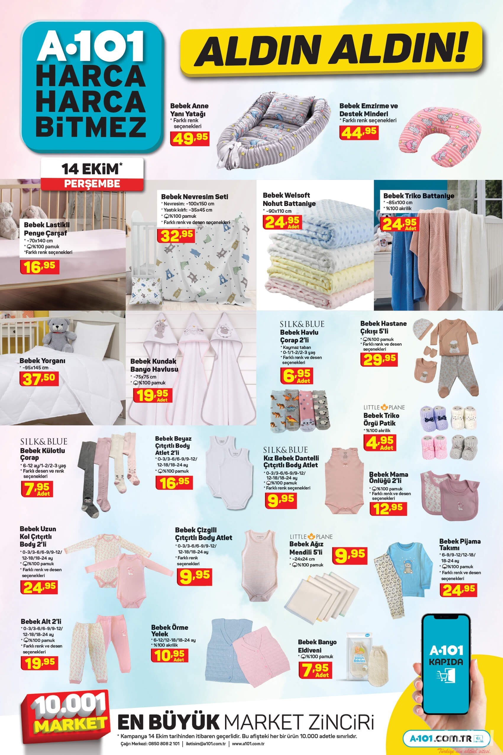 A101 14 Ekim 2021 Bebek Giysileri